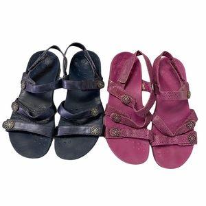 2 Vionic Cathy Pink and Blue Sz 8 Sandal